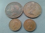World 4 Old Coins 1947/1962/1964/ 1 No Key-date Collection Lots
