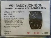 51 Randy Johnson Limited Edition Collector's Coin Embossed Quarter Rare /2000