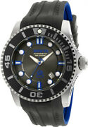 Menand039s Pro Diver Automatic S. Steel Black/blue Silicone Watch 20200