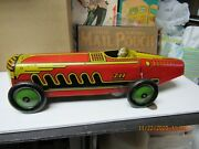 Marx Giant King Boat Tail Tin Litho Red Yellow Indy Racer 1941 Wind Up 13 Exc