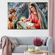 Mother Mary And Infant Jesus Christianity Religion And Jesus Canvas Art Print Fo