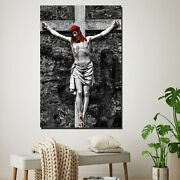 Jesus On Crucifix Christianity Religion And Jesus Canvas Art Print For Wall Deco