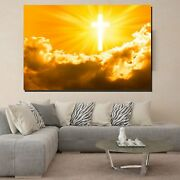 Jesus Christ Sun Rays Christianity Religion And Jesus Canvas Art Print For Wall