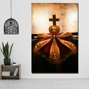 The Crucifix And Crown Christianity Religion And Jesus Canvas Art Print For Wall