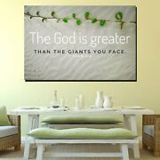 Bible Quote 1 John 4/4 Christianity Religion And Jesus Canvas Art Print For Wall
