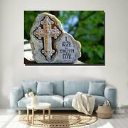 I Am The Way Christianity Religion And Jesus Canvas Art Print For Wall Decor