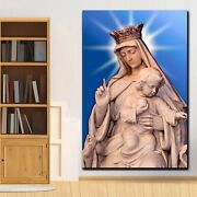 Mary Holy Mother Of God Christianity Religion And Jesus Canvas Art Print For Wal