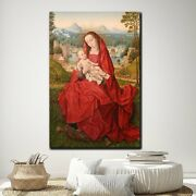 Mary Full Of Grace Christianity Religion And Jesus Canvas Art Print For Wall Dec