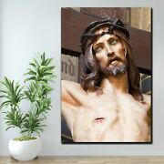 Jesus On The Cross Christianity Religion And Jesus Canvas Art Print For Wall Dec