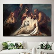 Descent From The Cross Christianity Religion And Jesus Canvas Art Print For Wall