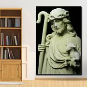 Jesus The Good Shepherd Christianity Religion And Jesus Canvas Art Print For Wal