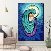 Virgin Mother And Child Jesus Christianity Religion And Jesus Canvas Art Print F