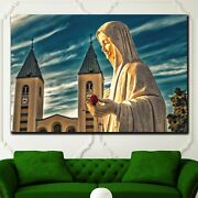 Mary Mystical Rose Christianity Religion And Jesus Canvas Art Print For Wall Dec
