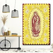 Our Lady Of Guadalupe Christianity Religion And Jesus Canvas Art Print For Wall