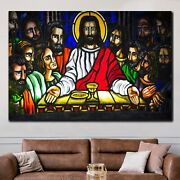 The Last Supper Mosaic Christianity Religion And Jesus Canvas Art Print For Wall