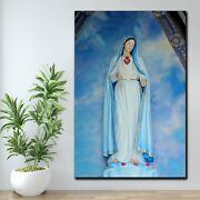 Mary Refuge Of Sinners Christianity Religion And Jesus Canvas Art Print For Wall
