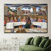 The Last Supper Of Christ Christianity Religion And Jesus Canvas Art Print For W