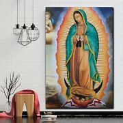 Virgin Mary Of Guadalupe Christianity Religion And Jesus Canvas Art Print For Wa