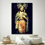 Mary Mother Of Divine Grace Christianity Religion And Jesus Canvas Art Print For