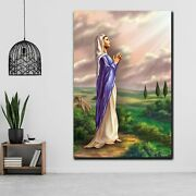 Mary Morning Star Christianity Religion And Jesus Canvas Art Print For Wall Deco
