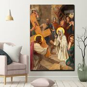 Mary Mother Most Sorrowful Christianity Religion And Jesus Canvas Art Print For