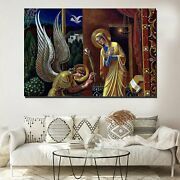 The Annunciation Of Mary Christianity Religion And Jesus Canvas Art Print For Wa