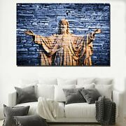 Christ The King Christianity Religion And Jesus Canvas Art Print For Wall Decor
