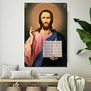 Christ The Messiah Christianity Religion And Jesus Canvas Art Print For Wall Dec