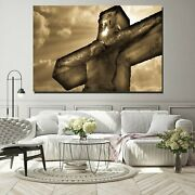 Christ On The Cross Christianity Religion And Jesus Canvas Art Print For Wall De
