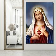 Our Lady Of The Sacred Heart Christianity Religion And Jesus Canvas Art Print Fo