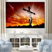 Jesus Christ And The Rising Sun Christianity Religion And Jesus Canvas Art Print