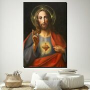 Sacred Heart Of Jesus Christianity Religion And Jesus Canvas Art Print For Wall