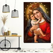 Madonna And Child Jesus Christianity Religion And Jesus Canvas Art Print For Wal