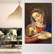 Mary And Child Jesus Christianity Religion And Jesus Canvas Art Print For Wall D