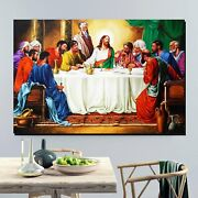 The Last Supper Christianity Religion And Jesus Canvas Art Print For Wall Decor