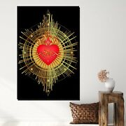 Heart Of Jesus Christianity Religion And Jesus Canvas Art Print For Wall Decor