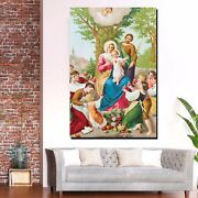 The Blessed Holy Family Christianity Religion And Jesus Canvas Art Print For Wal