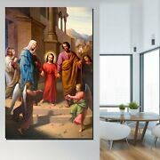 The Holy Family Christianity Religion And Jesus Canvas Art Print For Wall Decor