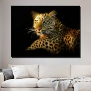 Portrait Of A Leopard Animals Lions And Tigers Canvas Art Print For Wall Decor
