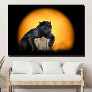 Passion Animals Lions And Tigers Canvas Art Print For Wall Decor