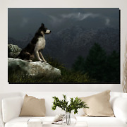 Solitary Wolf Wolves And Wolf Canvas Art Print For Wall Decor