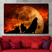 Wailing Wolves Wolves And Wolf Canvas Art Print For Wall Decor