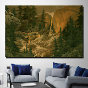 Wolf In The Jungle Wolves And Wolf Canvas Art Print For Wall Decor