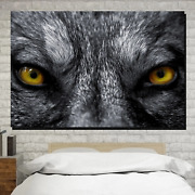 Wolf Eyes Wolves And Wolf Canvas Art Print For Wall Decor