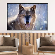 Gray Wolf Wolves And Wolf Canvas Art Print For Wall Decor