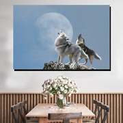 Duet Of The Wolves Wolves And Wolf Canvas Art Print For Wall Decor
