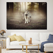 Forest Wolf Wolves And Wolf Canvas Art Print For Wall Decor