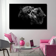 Two Black Wolves Wolves And Wolf Canvas Art Print For Wall Decor