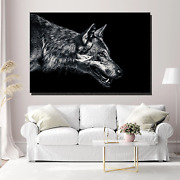 Big Bad Wolf Wolves And Wolf Canvas Art Print For Wall Decor