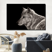 Arctic Wolf Wolves And Wolf Canvas Art Print For Wall Decor